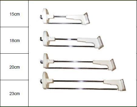 Размеры противокражных крючков
