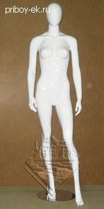 Манекен белый женский 174см